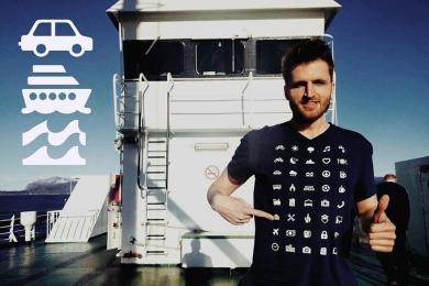 Camiseta com ícones ajuda viajante a se comunicar em qualquer país